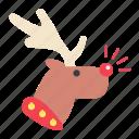 christmas raindeer, christmas, xmas, rudolph icon