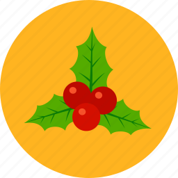 christmas, holly, newyear, noel, xmas icon