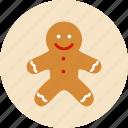 biscuit, cake, christmas, man, newyear, noel, xmas icon