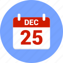 calendar, christmas, december, newyear, xmas icon