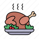 turkey, food, christmas dinner, dinner, festive
