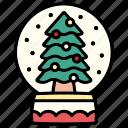 snow, globe, winter, snowflake, xmas, ball, christmas