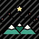 winter, mountain, christmas, holiday, xmas, snow, decoration