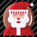 santa claus, avatar, celebration, christmas, xmas icon
