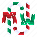 candy, cane, sweet, dessert, christmas icon