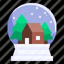 snow, globe, snow globe, christmas, tree, decoration icon