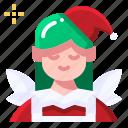 elf, fairy tale, folklore, character, christmas, avatar