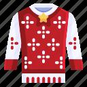 sweater, christmas sweater, clothing, christmas, xmas icon
