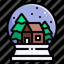 snow globe, christmas, tree, snow, decoration