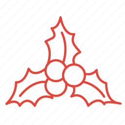 christmas, decoration, mistletoe, plant, winter icon