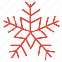 christmas, decoration, snow, snowflake, winter icon
