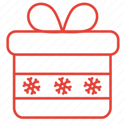 box, christmas, gift, present, winter icon