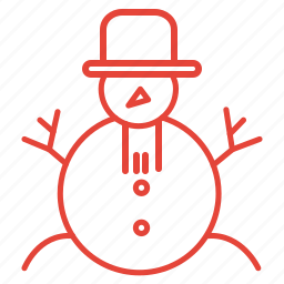 christmas, decoration, snow, snowman, winter icon
