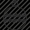 christmas, ball, ornament, decoration, celebration