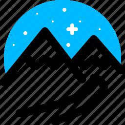 mountain, nature, snow, winter icon