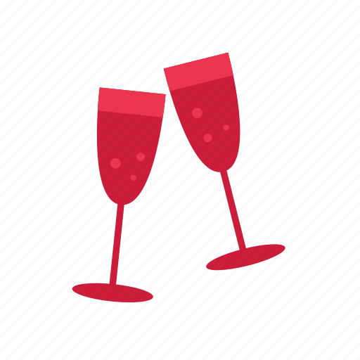 champagne, christmas, drink, glass, party icon