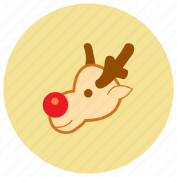 achievement, award, christmas, holiday, reindeer, star, winter icon