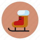 celebration, christmas, gift, holiday, ice skates, snow icon