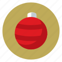 christmas, flower, holiday, nature, noel orb, tree icon