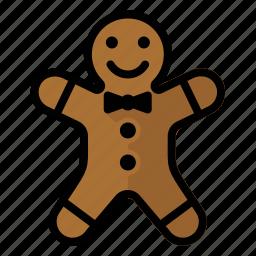 christmas, gingerbread, man icon