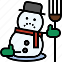 christmas, frosty, snowman, winter icon