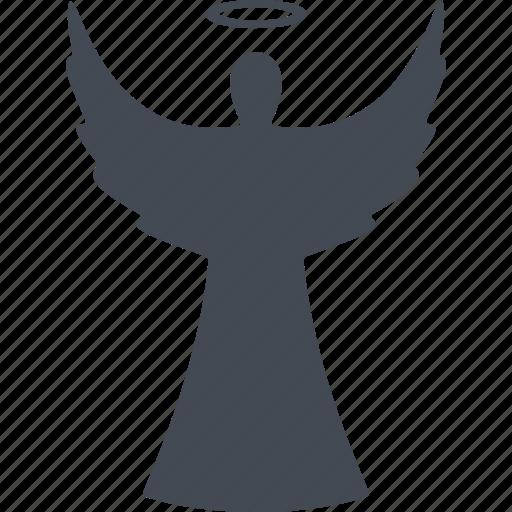 angel, christmas, nimbus, wings icon