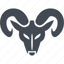 christmas, mask, ram head, horns