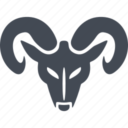 christmas, horns, mask, ram head icon