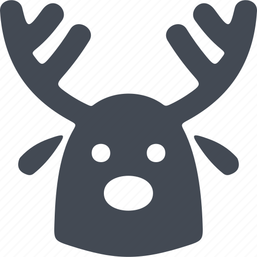 christmas, decoration, festive mask, horns, mask icon