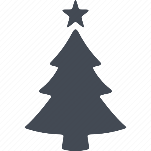 christmas, christmas tree, fir-tree, star icon