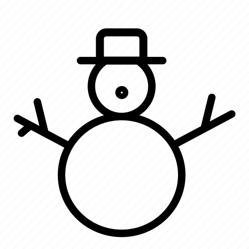 christmas, play, snow, snowman, woods icon