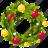 christmas, holiday, santa, wreath icon