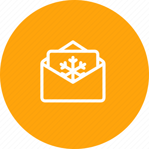 Christmas, email, invitation, letter, message, snowflake, xmas icon - Download on Iconfinder