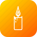 candle, christmas, decoration, flame, light, xmas icon