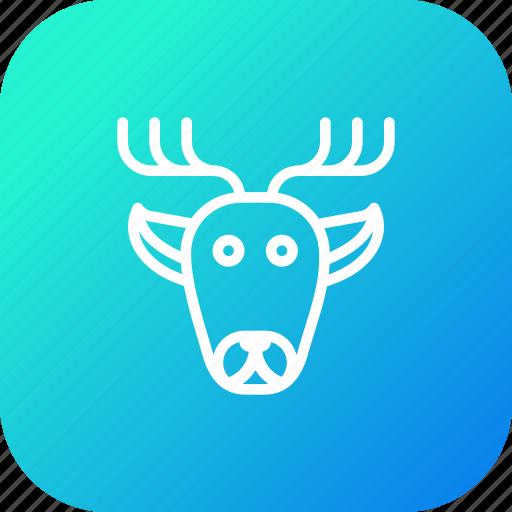 animal, christmas, deer, raindeer, rudolf, santa, xmas icon