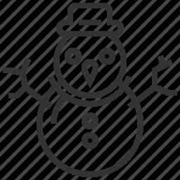 celebration, christmas, holiday, merry, snowman, xmas icon