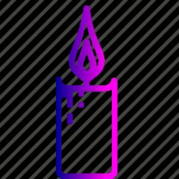 candle, christmas, decoration, flame, light, xmas icon