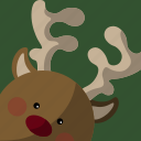 christmas, deer, gift icon