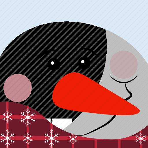 christmas, snow, snowman icon