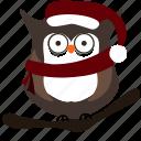 bird, christmas, owl icon