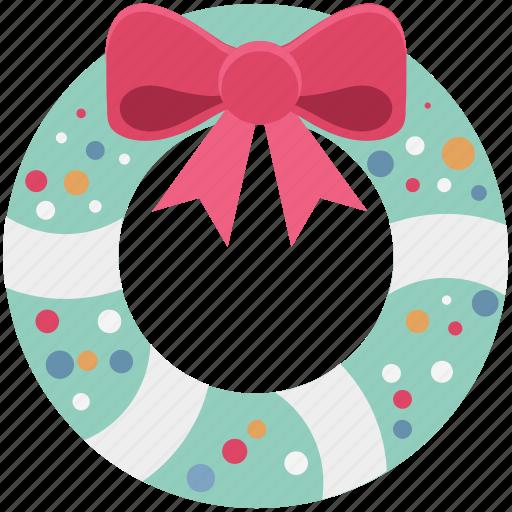 christmas decorations, christmas ornament, christmas wreath, garland, wreath icon