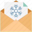 christmas letter, christmas message, easter letter, letter, snow letter, winter letter, winter message icon