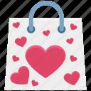 bag, heart, shopper bag, shopping, shopping bag icon