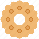 bakery food, biscuit, cookie, cracker, snack icon