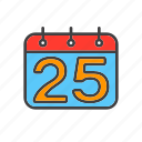 calendar, christmas, december, holiday icon