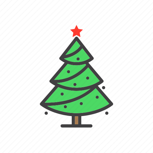 christmas, fir, spruce, tree icon