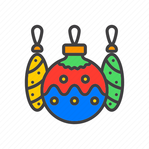 ball, christmas, decoration, tree icon