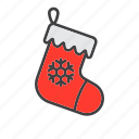 christmas, sock, stocking icon