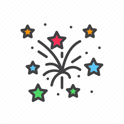 explosion, festival, fireforks icon