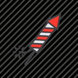 fireworks, petard, rocket icon